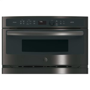 GE Profile™ 30 in. Single Wall Oven with Advantium® Technology - BLACK STAINLESS
