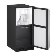 """1000 Series 15"""" Clear Ice Machine With Black Solid Finish and Field Reversible Door Swing, Pump Included (115 Volts / 60 Hz)"""