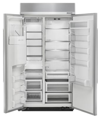 Beau Ft 42 Inch Width Built In Side By Side Refrigerator   Stainless Steel