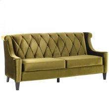Barrister Sofa In Green Velvet