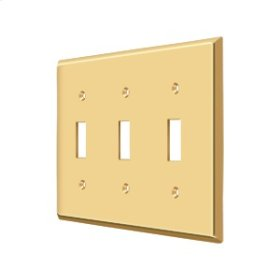 Switch Plate, Triple Standard - PVD Polished Brass