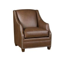 Heather Leather Chair, Heather Leather Ottoman