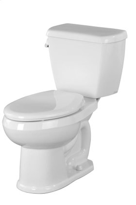 """White Avalanche® 1.28 Gpf 12"""" Rough-in Two-piece Elongated Toilet"""