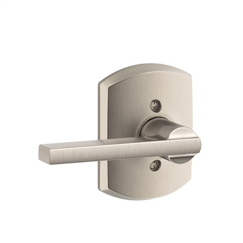Latitude Lever with Greenwich trim Non-turning Lock - Satin Nickel