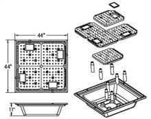 Fountain Installation Kit, 44 inch Square