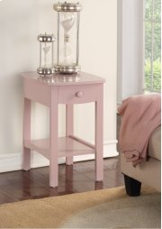 Emerald Home Home Decor 1 Drawer Nightstand-pink B343-04pnk Product Image
