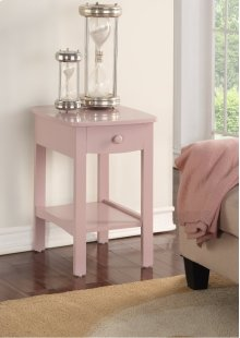 Emerald Home Home Decor 1 Drawer Nightstand-pink B343-04pnk