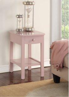 Emerald Home Home Decor 1 Drawer Nightstand-pink B343-04pnk