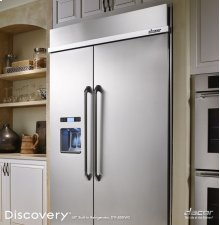 """Discovery 42"""" Built-In Refrigerator, in Stainless Steel with Ice and Water Dispenser"""