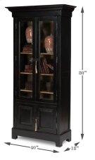 Bookcase In Ebony Finish Product Image