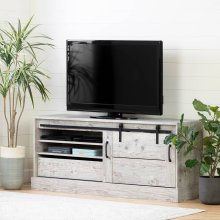"TV Stand for TVs up to 75"" with Sliding Door - Seaside Pine"