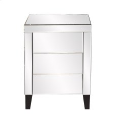 Mirrored 3 Drawer Accent Cabinet Product Image