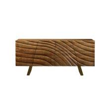 Modrest Finley Modern Walnut & Gold Buffet