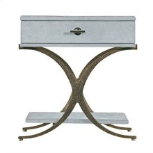Resort Windward Dune End Table in Sea Salt
