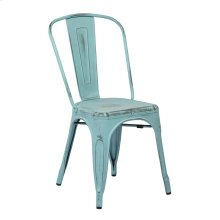 Bristow Armless Chair, Antique Sky Blue, 2 Pack