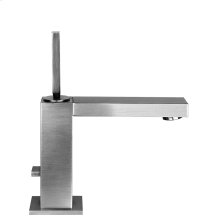 "Single lever washbasin mixer with pop-up assembly Spout projection 5-3/16"" Height 7-9/16"" Includes drain Max flow rate 1"