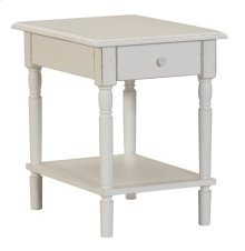 Accent Table, Available in Shabby White Finish Only.