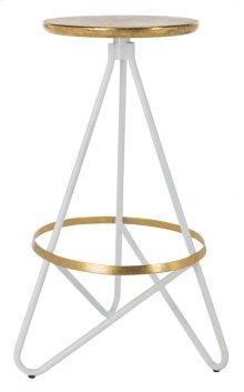Galexia Bar Stool - White / Gold Top