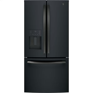 GE® ENERGY STAR® 17.5 Cu. Ft. Counter-Depth French-Door Refrigerator - BLACK SLATE