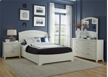 King Panel Bed, Dresser & Mirror, NS