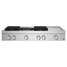 "NOIR 48"" Gas Professional-Style Rangetop with Chrome-Infused Griddle and Grill"