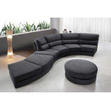 Divani Casa 0599 - Contemporary Curvy Fabric Sofa