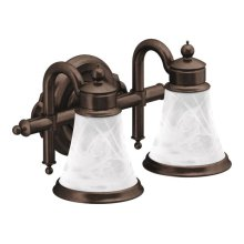 Waterhill oil rubbed bronze bath light