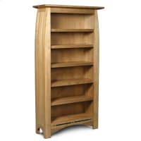 Aspen Tall Open Bookcase, Aspen Tall Open Bookcase with Inlay, 5-Adjustable Shelves Product Image