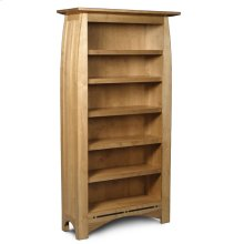 Aspen Tall Open Bookcase, Aspen Tall Open Bookcase with Inlay, 6-Adjustable Shelves