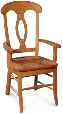 Carlo Arm Chair, Fabric Cushion Seat