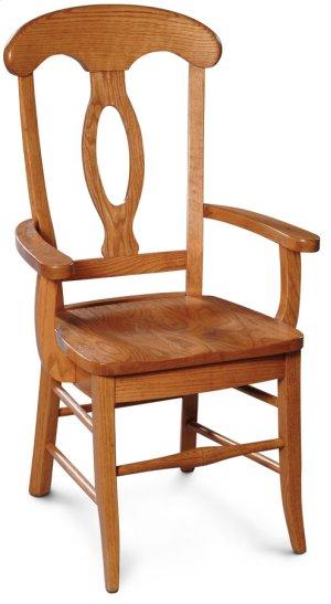 Carlo Arm Chair, Wood Seat