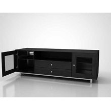 """AV Stand For TVs up to 80"""" and 150 lbs / 68 kg - Charcoal"""