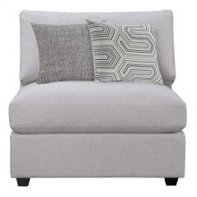 Charlotte Transitional Grey Armless Chair