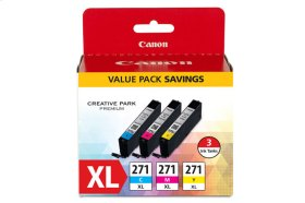 Canon CLI-271 XL Cyan, Magenta & Yellow 3 Ink Pack CLI-271 XL CMY Value Pack