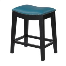 24'' Bar Stool W/no Back-kd-pu Teal#al850-10 (2/ctn)
