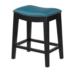 24'' Bar Stool W/no Back-kd-pu Teal#al850-10 (2/ctn) Product Image