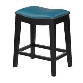 24'' Bar Stool W/no Back-kd-pu Teal#al850-10 (2/ctn)