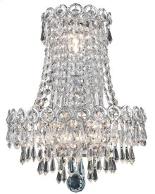 1902 Century Collection Wall Sconce with Neck Chrome Finish