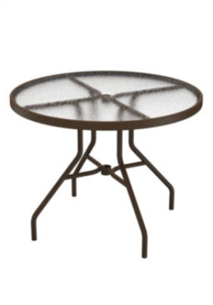 "Acrylic 36"" Round Dining Umbrella Table"