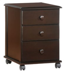 Spice Chocolate Clove 3 Drawer Rolling Unit