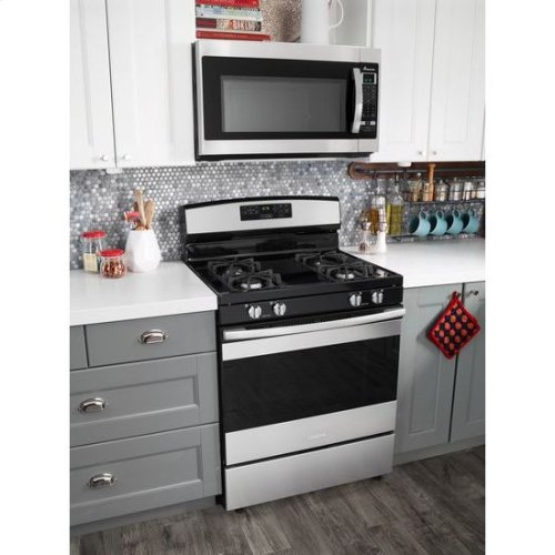 30-inch Gas Range with Self-Clean Option - stainless steel