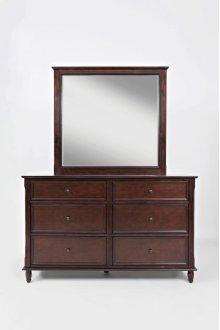 Avignon Birch Cherry Dresser & Mirror