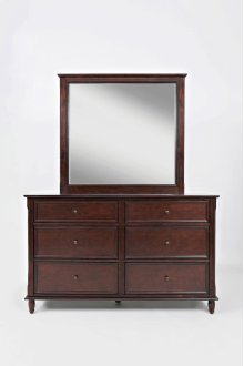 Avignon Birch Cherry Dresser & Mirror