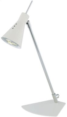 LED Desk Lamp, Chrome/white, Gu-10 LED Type Bulb 3wx1