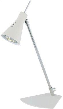 LED Desk Lamp, Chrome/white, Gu-10 LED Type Bulb 3wx1