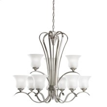 Wedgeport Collection Wedgeport 9 Light Chandelier in Brushed Nickel