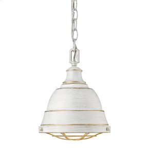 Bartlett Small Pendant in French White