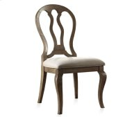 Belmeade Queen Ann Upholstered Side Chair Old World Oak finish Product Image