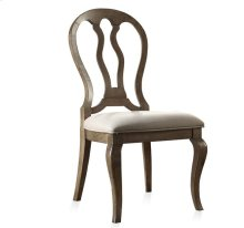 Belmeade Queen Ann Upholstered Side Chair Old World Oak finish