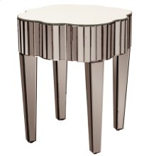 Pewter Mirrored Side Table